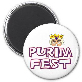 Fest de Purim Imán Redondo 5 Cm