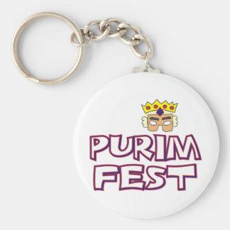 Fest de Purim Llavero Redondo Tipo Pin