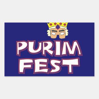 Fest de Purim Pegatina Rectangular