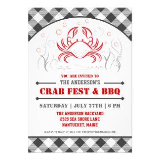 Fest del cangrejo del verano y invitación del fies