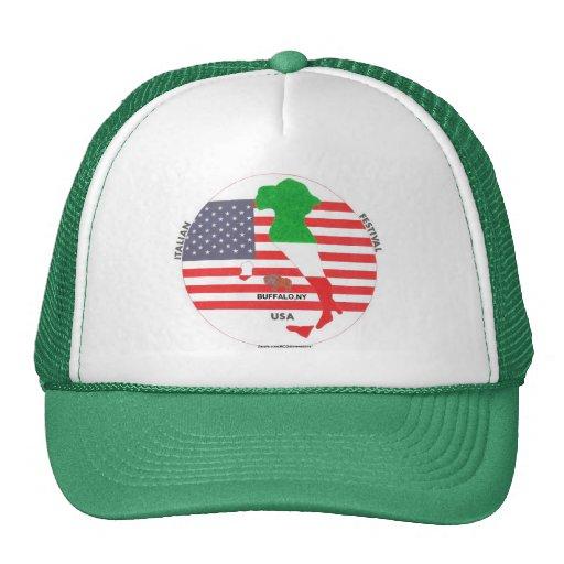 Fest italiano. Gorra verde del camionero del estil