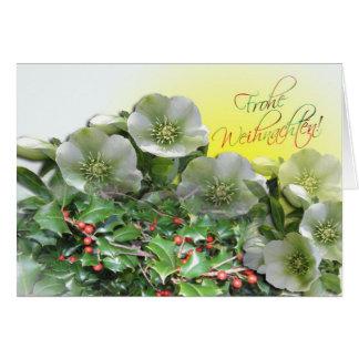 Fest Karte - tarjeta de Navidad de Frohes alemana