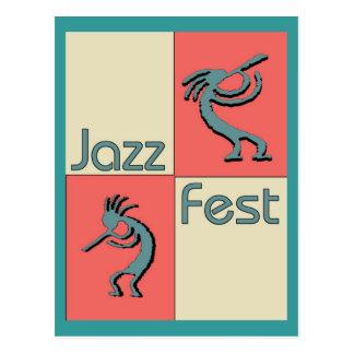 Fest Pellies del jazz Tarjeta Postal