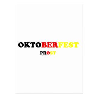 Fest Prost de Oktober Tarjeta Postal