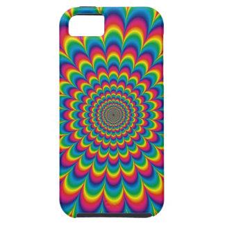 Fest psicodélico enrrollado del color iPhone 5 fundas