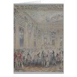 Festeje dado por señora du Barry para Louis XV Felicitacion