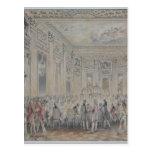Festeje dado por señora du Barry para Louis XV Postal