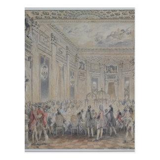 Festeje dado por señora du Barry para Louis XV Tarjetas Postales