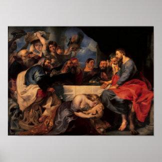 Festeje en la casa de Simon al Pharisee, c.1620 Póster