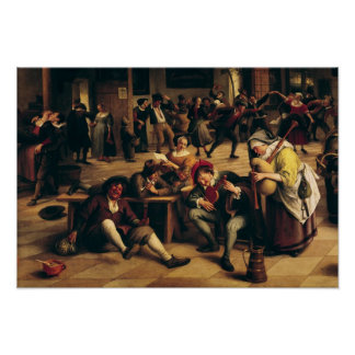Festeje en un mesón, detalle del grupo central póster