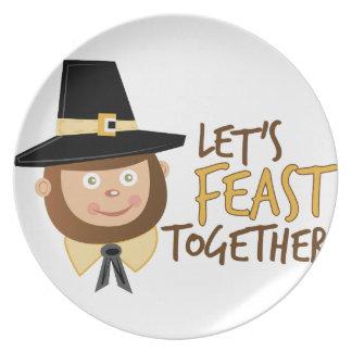 Festejemos junto platos de comidas