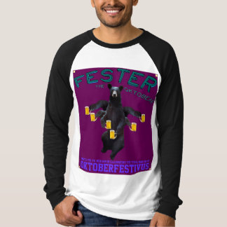 Fester The OktoBear on Blue and Purple T-Shirt
