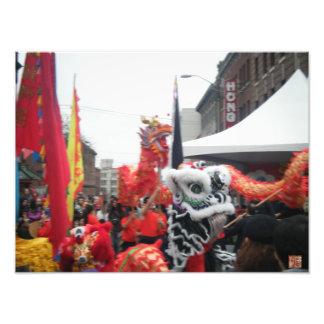 """Festival -12 """" x 16"""" de Chinatown ampliación de la Arte Fotográfico"""