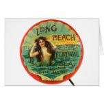 Festival 1908 de Long Beach de la sirena del vinta Tarjeta
