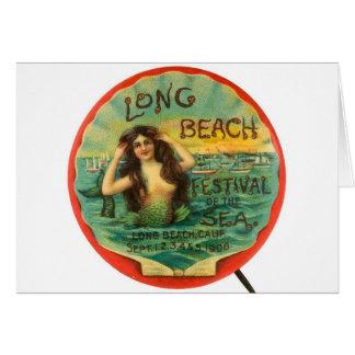 Festival 1908 de Long Beach de la sirena del vinta Tarjeta De Felicitación