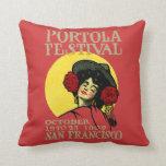 Festival 1909 de San Francisco Portola Almohada