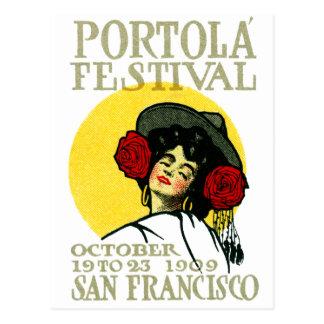Festival 1909 de San Francisco Portola Tarjeta Postal