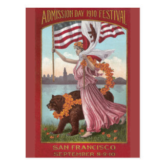 Festival 1910 de San Francisco Tarjeta Postal