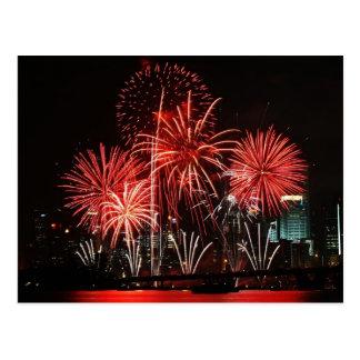 Festival 1 de los fuegos artificiales de Singapur Postales