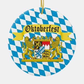 Festival alemán de la féretro de Oktoberfest Adorno Navideño Redondo De Cerámica
