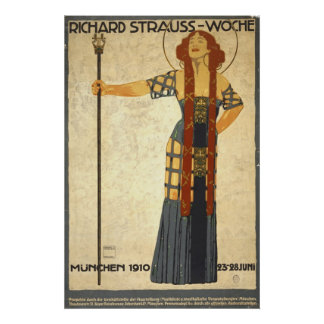 Festival alemán Playbill 1910 Posters