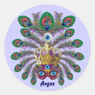 Festival Argos-Argus Eyes Important view notes Classic Round Sticker