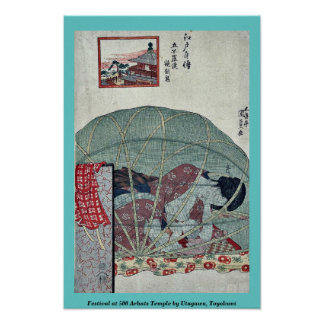 Festival at 500 Arhats Temple by Utagawa, Toyokuni Print