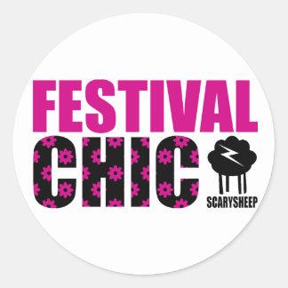 Festival Chic Classic Round Sticker