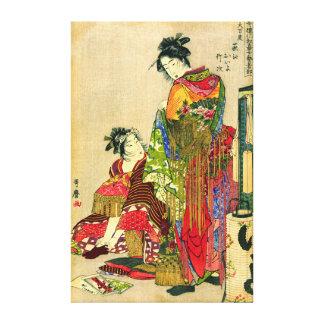 Festival Costumes 1785 Canvas Print