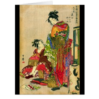 Festival Costumes 1785 Large Greeting Card