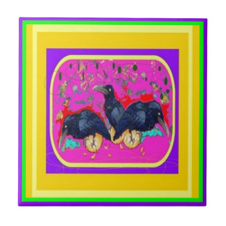 Festival Crows by Sharles Ceramic Tiles