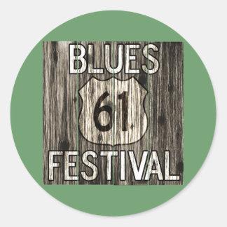 Festival de 61 azules pegatina