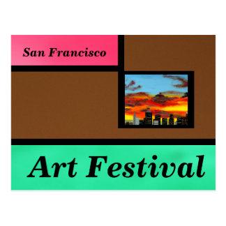 Festival de arte de Brown Tarjetas Postales