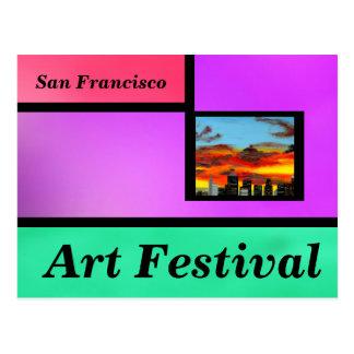 Festival de arte violeta postal