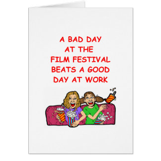 festival de cine tarjeta de felicitación