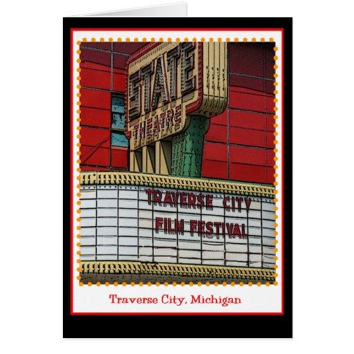 Festival de cine transversal de la ciudad tarjeta de felicitación