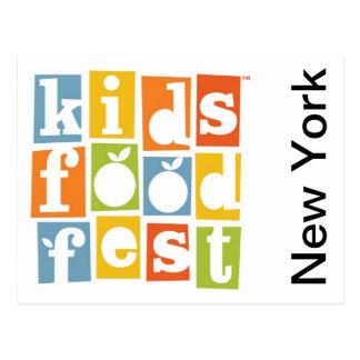 Festival de la comida de los niños tarjeta postal