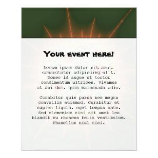 """Festival de la cosecha - arte abstracto folleto 4.5"""" x 5.6"""""""