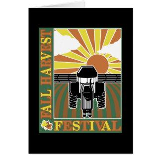 Festival de la cosecha de la caída tarjeta de felicitación