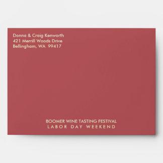 Festival de la degustación de vinos del nacido en  sobres