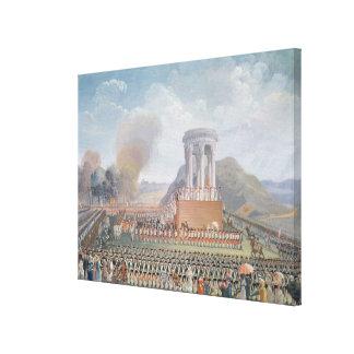 Festival de la federación, el 14 de julio de 1790 lienzo envuelto para galerias