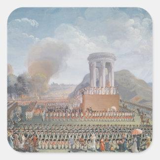 Festival de la federación, el 14 de julio de 1790 pegatinas cuadradases