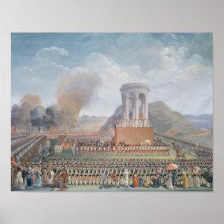 Festival de la federación, el 14 de julio de 1790 póster