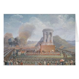 Festival de la federación, el 14 de julio de 1790 tarjetas