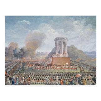 Festival de la federación, el 14 de julio de 1790 postal