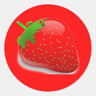 Festival de la fresa pegatina redonda