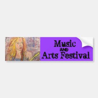 Festival de la música y de artes pegatina para auto