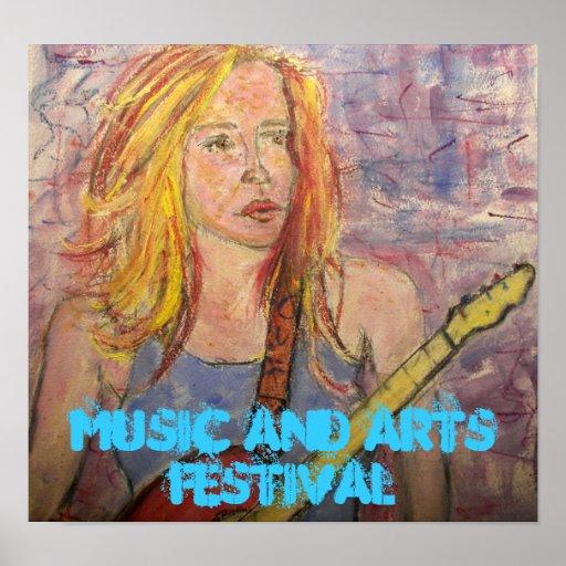 Festival de la música y de artes póster