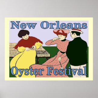 Festival de la ostra de New Orleans Poster