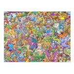 Festival de las criaturas tarjeta postal